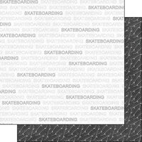 Scrapbook Customs - Sports Addict Collection - 12 x 12 Double Sided Paper - Skateboarding Addict 1