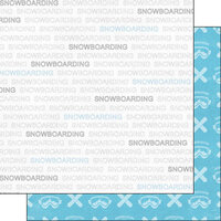 Scrapbook Customs - Sports Addict Collection - 12 x 12 Double Sided Paper - Snowboarding Addict 1