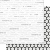 Scrapbook Customs - Sports Addict Collection - 12 x 12 Double Sided Paper - Volleyball Addict 1