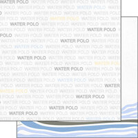 Scrapbook Customs - Sports Addict Collection - 12 x 12 Double Sided Paper - Water Polo Addict 1