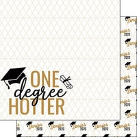 Scrapbook Customs - Graduation Collection - 12 x 12 Double Sided Paper - One Degree Hotter