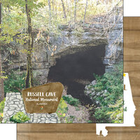 Scrapbook Customs - America the Beautiful Collection - 12 x 12 Double Sided Paper - Alabama - Russell Cave National Monument