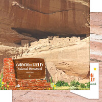 Scrapbook Customs - America the Beautiful Collection - 12 x 12 Double Sided Paper - Arizona - Canyon de Chelly National Monument