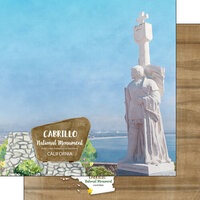 Scrapbook Customs - America the Beautiful Collection - 12 x 12 Double Sided Paper - California - Cabrillo National Monument