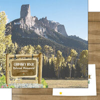 Scrapbook Customs - America the Beautiful Collection - 12 x 12 Double Sided Paper - Colorado - Chimney Rock National Monument