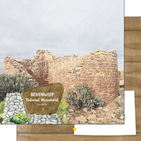 Scrapbook Customs - America the Beautiful Collection - 12 x 12 Double Sided Paper - Colorado - Hovenweep National Monument