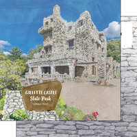 Scrapbook Customs - America the Beautiful Collection - 12 x 12 Double Sided Paper - Connecticut - Gillette Castle State Park