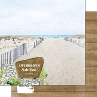 Scrapbook Customs - America the Beautiful Collection - 12 x 12 Double Sided Paper - Delaware - Cape Henlopen State Park