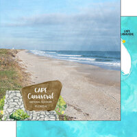 Scrapbook Customs - America the Beautiful Collection - 12 x 12 Double Sided Paper - Florida - Cape Canaveral National Seashore