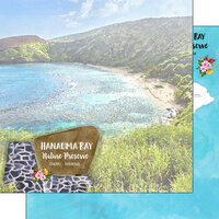 Scrapbook Customs - America the Beautiful Collection - 12 x 12 Double Sided Paper - Hawaii - Oahu - Hanauma Bay Nature Preserve