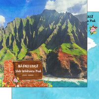 Scrapbook Customs - America the Beautiful Collection - 12 x 12 Double Sided Paper - Hawaii - Kauai - NA Pali Coast State Wilderness Park
