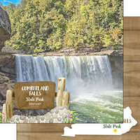 Scrapbook Customs - America the Beautiful Collection - 12 x 12 Double Sided Paper - Kentucky - Cumberland Falls State Park
