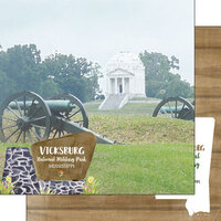 Scrapbook Customs - America the Beautiful Collection - 12 x 12 Double Sided Paper - Mississippi - Vicksburg National Military Park