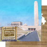 Scrapbook Customs - America the Beautiful Collection - 12 x 12 Double Sided Paper - Missouri National World War I Museum and Memorial