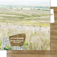 Scrapbook Customs - America the Beautiful Collection - 12 x 12 Double Sided Paper - Montana - Little Bighorn Battlefield National Monument