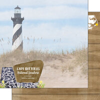 Scrapbook Customs - America the Beautiful Collection - 12 x 12 Double Sided Paper - North Carolina - Cape Hatteras National Seashore