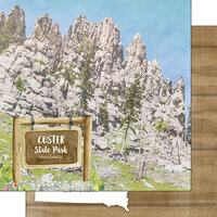 Scrapbook Customs - America the Beautiful Collection - 12 x 12 Double Sided Paper - South Dakota - Custer State Park