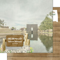 Scrapbook Customs - America the Beautiful Collection - 12 x 12 Double Sided Paper - Oklahoma - Oklahoma City National Memorial