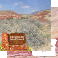 Scrapbook Customs - America the Beautiful Collection - 12 x 12 Double Sided Paper - Oregon - John Day Fossil Beds