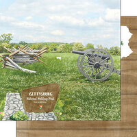 Scrapbook Customs - America the Beautiful Collection - 12 x 12 Double Sided Paper - Pennsylvania - Gettysburg National Military Park