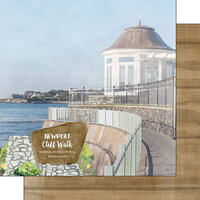 Scrapbook Customs - America the Beautiful Collection - 12 x 12 Double Sided Paper - Rhode Island - Newport Cliff Walk