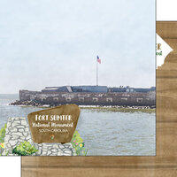 Scrapbook Customs - America the Beautiful Collection - 12 x 12 Double Sided Paper - South Carolina - Fort Sumter National Monument