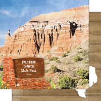 Scrapbook Customs - America the Beautiful Collection - 12 x 12 Double Sided Paper - Texas - Palo Duro Canyon State Park