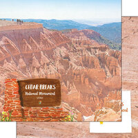 Scrapbook Customs - America the Beautiful Collection - 12 x 12 Double Sided Paper - Utah - Cedar Breaks National Monument