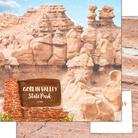 Scrapbook Customs - America the Beautiful Collection - 12 x 12 Double Sided Paper - Utah - Goblin Valley State Park