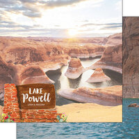 Scrapbook Customs - America the Beautiful Collection - 12 x 12 Double Sided Paper - Utah - Lake Powell
