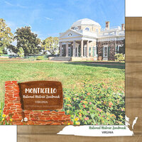 Scrapbook Customs - America the Beautiful Collection - 12 x 12 Double Sided Paper - Virginia - Monticello National Historic Site