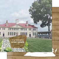 Scrapbook Customs - America the Beautiful Collection - 12 x 12 Double Sided Paper - Virginia - Mount Vernon George Washington's House