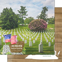 Scrapbook Customs - America the Beautiful Collection - 12 x 12 Double Sided Paper - Virginia - Arlington Cemetery