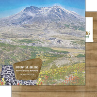 Scrapbook Customs - America the Beautiful Collection - 12 x 12 Double Sided Paper - Washington - Mt. St. Helens National Volcanic Monument