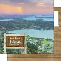 Scrapbook Customs - America the Beautiful Collection - 12 x 12 Double Sided Paper - Washington - San Juan Islands