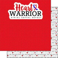 Scrapbook Customs - Heart Warrior Collection - 12 x 12 Double Sided Paper - ASD