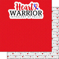 Scrapbook Customs - Heart Warrior Collection - 12 x 12 Double Sided Paper - TOF