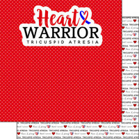 Scrapbook Customs - Heart Warrior Collection - 12 x 12 Double Sided Paper - Tricuspid Atresia