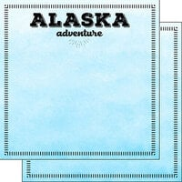 Scrapbook Customs - Postage Adventure Collection - 12 x 12 Double Sided Paper - Alaska