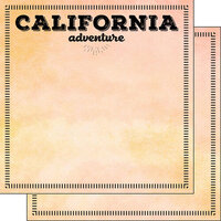 Scrapbook Customs - Postage Adventure Collection - 12 x 12 Double Sided Paper - California