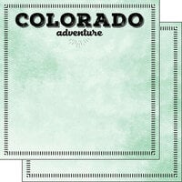 Scrapbook Customs - Postage Adventure Collection - 12 x 12 Double Sided Paper - Colorado