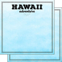 Scrapbook Customs - Postage Adventure Collection - 12 x 12 Double Sided Paper - Hawaii