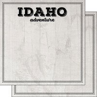 Scrapbook Customs - Postage Adventure Collection - 12 x 12 Double Sided Paper - Idaho