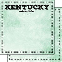 Scrapbook Customs - Postage Adventure Collection - 12 x 12 Double Sided Paper - Kentucky