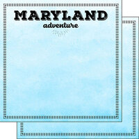Scrapbook Customs - Postage Adventure Collection - 12 x 12 Double Sided Paper - Maryland