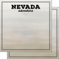 Scrapbook Customs - Postage Adventure Collection - 12 x 12 Double Sided Paper - Nevada