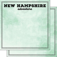 Scrapbook Customs - Postage Adventure Collection - 12 x 12 Double Sided Paper - New Hampshire