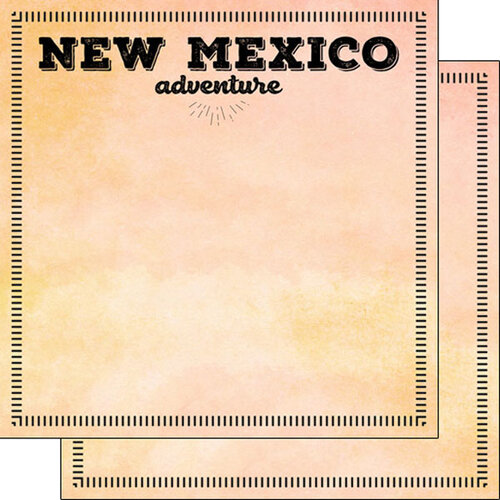 Scrapbook Customs - Postage Adventure Collection - 12 x 12 Double Sided Paper - New Mexico