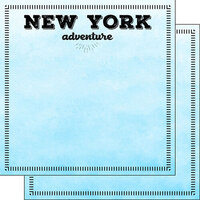 Scrapbook Customs - Postage Adventure Collection - 12 x 12 Double Sided Paper - New York