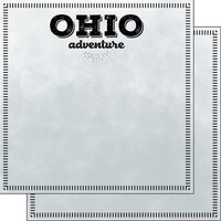 Scrapbook Customs - Postage Adventure Collection - 12 x 12 Double Sided Paper - Ohio